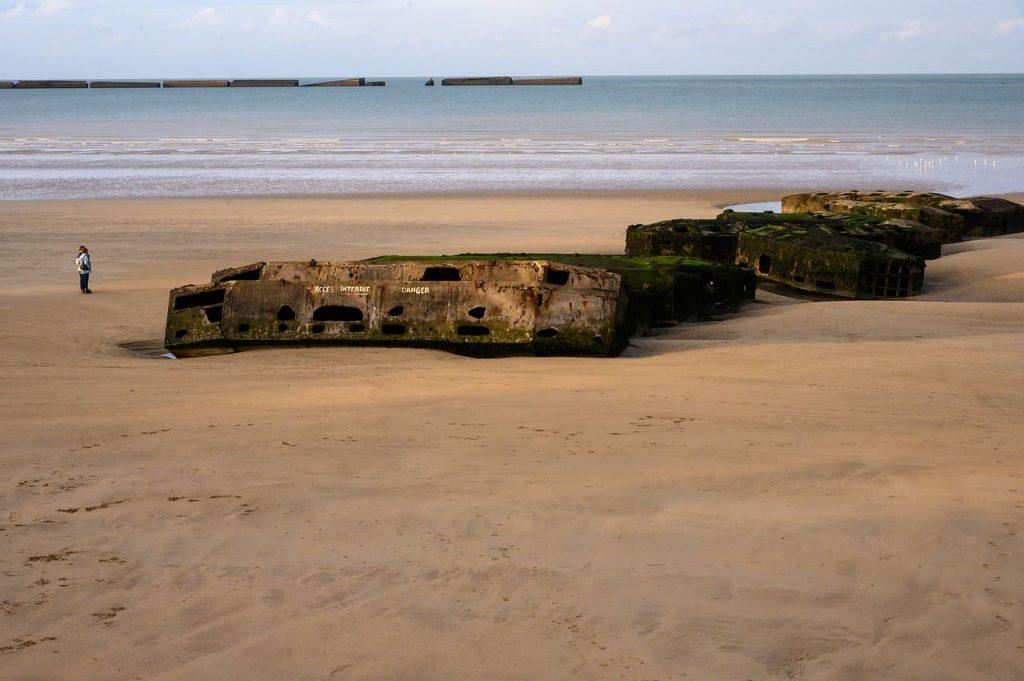 Arromanches. Le spiagge dello sbarco in Normandia.