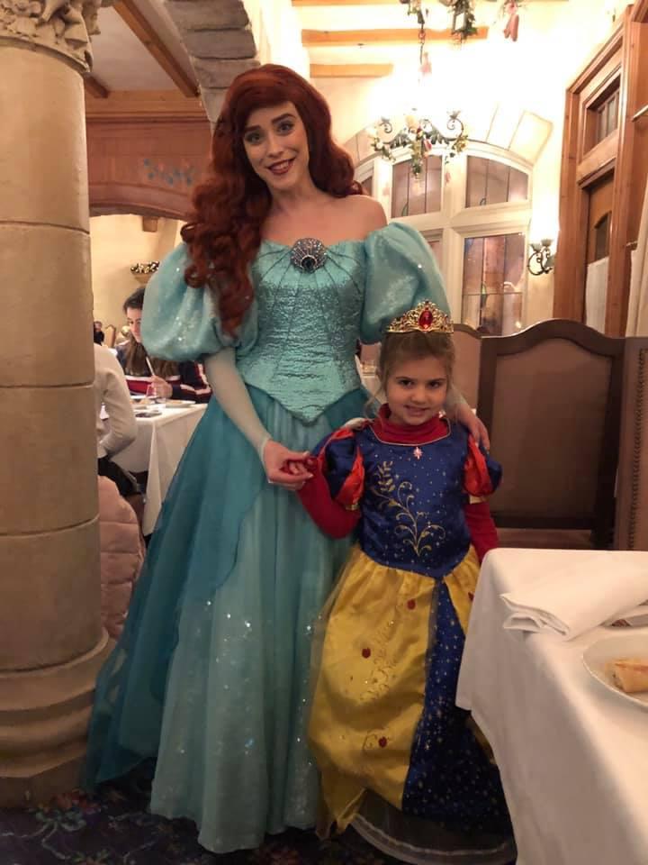 Auberge de cendrillon, mangiare a Disneyland Paris, principesse, trevaligie