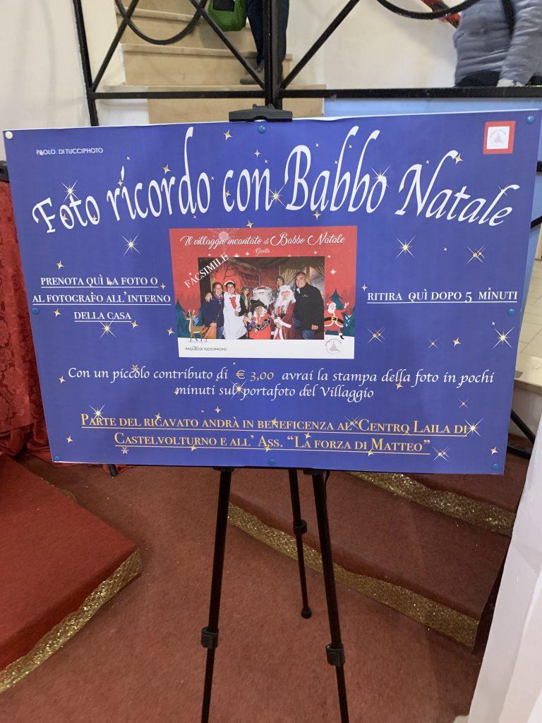 Foto. In babbo natale, babbo natale a Gaeta, Lazio, trevaligie