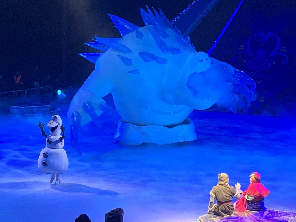 Disney on ice, frozen, spettacolo Disney, trevaligie