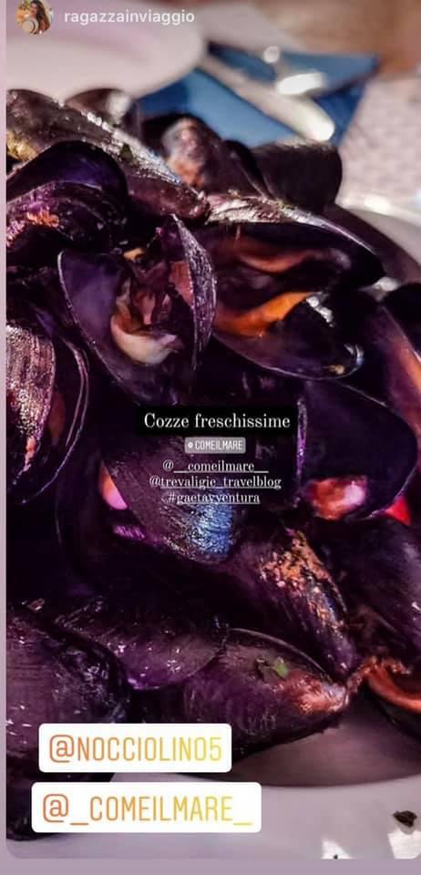 Da Come il mare abbiamo avuto modo di assaggiare le famose cozze di Gaeta!