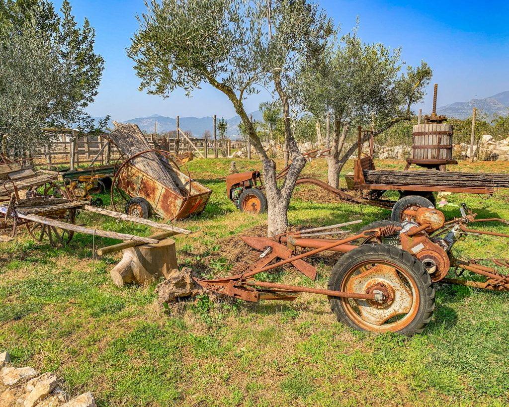 Alla Tenuta di Davide trovi anche un piccolo museo dedicato agli strumenti agricoli.