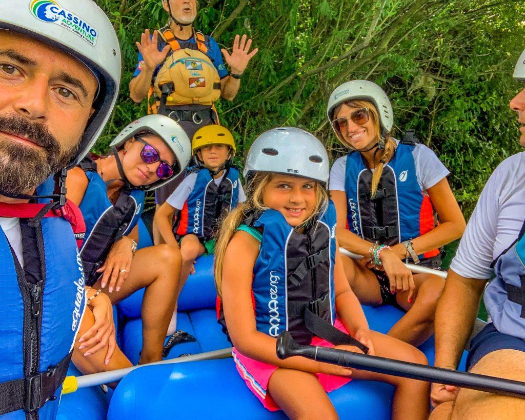 rafting con i bambini nel Lazio
