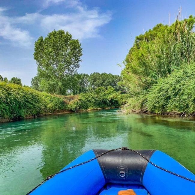 Rafting nel lazio. Esperienze outdoor con i bambini sul fiume Gari.